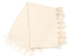 Mohair Blanket Single Feathers Natural