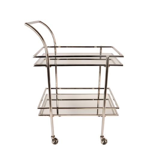 Table Drink Trolley Silver