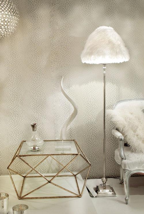 Lampbase Floor Golden Silver PL