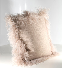 Cushion Mohair Mushroom FF Press