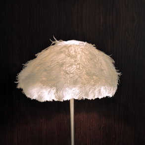 Lampshade Ostrich White M