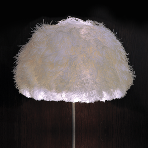 Lampshade Ostrich White L