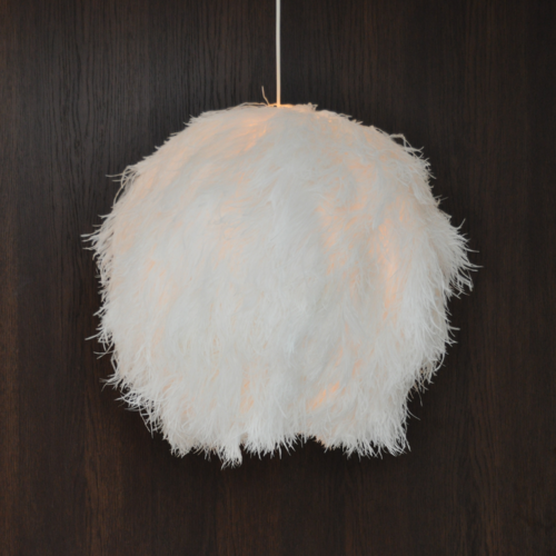 Lampshade Ostrich White Ball M TF