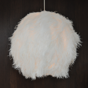 Lampshade Ostrich White Ball L TF