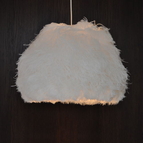 Lampshade Ostrich White L TF