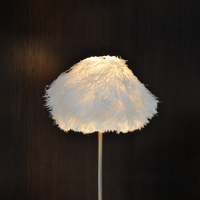 Lampshade Ostrich White S M