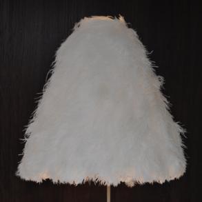Lampshade Ostrich White XL