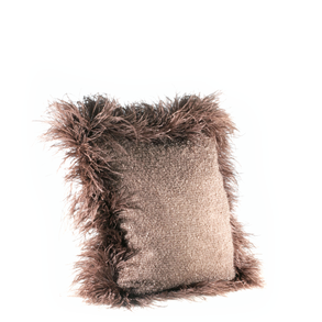 Cushion Mohair Feathers Pinecone