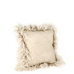 Cushion Mohair Feathers Mushroom