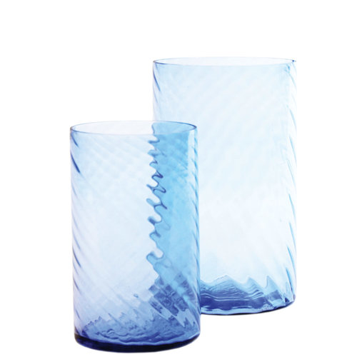 Sandy Wave Vase Blue M / L