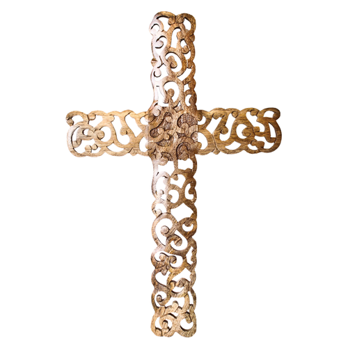 Crystal Crucifix Wood L
