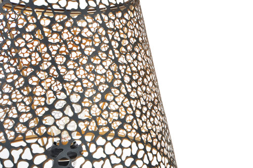 Lampshade Golden Black L