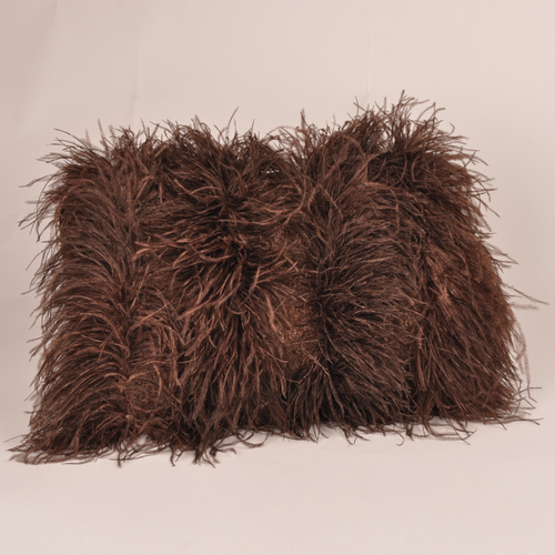 Cushion Mohair Feathers Pinecone S FF