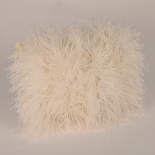 Cushion Mohair Feathers Natural S FF