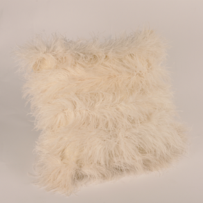 Cushion Mohair Feathers fr. Natural L